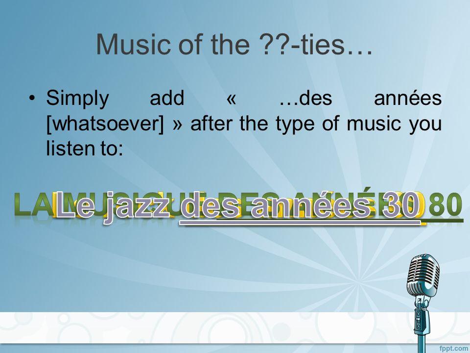 Les genres musicaux