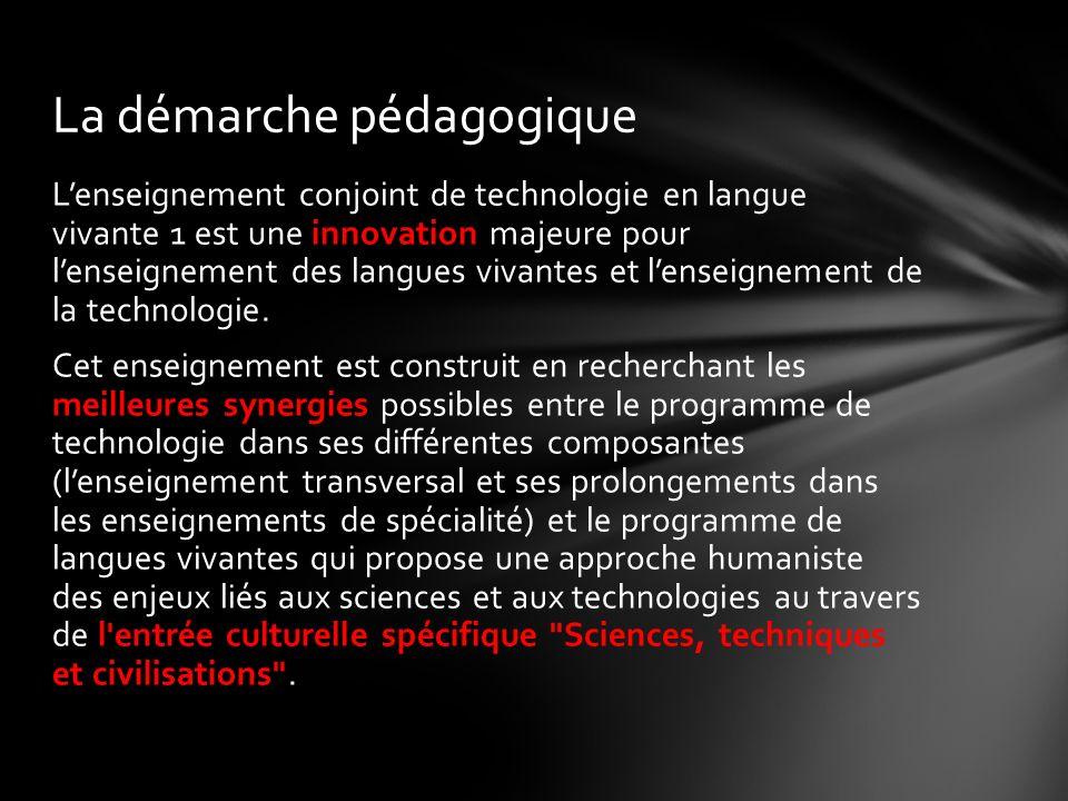 Lenseignement conjoint de technologie en langue vivante 1 est une innovation majeure pour lenseignement des langues vivantes et lenseignement de la technologie.