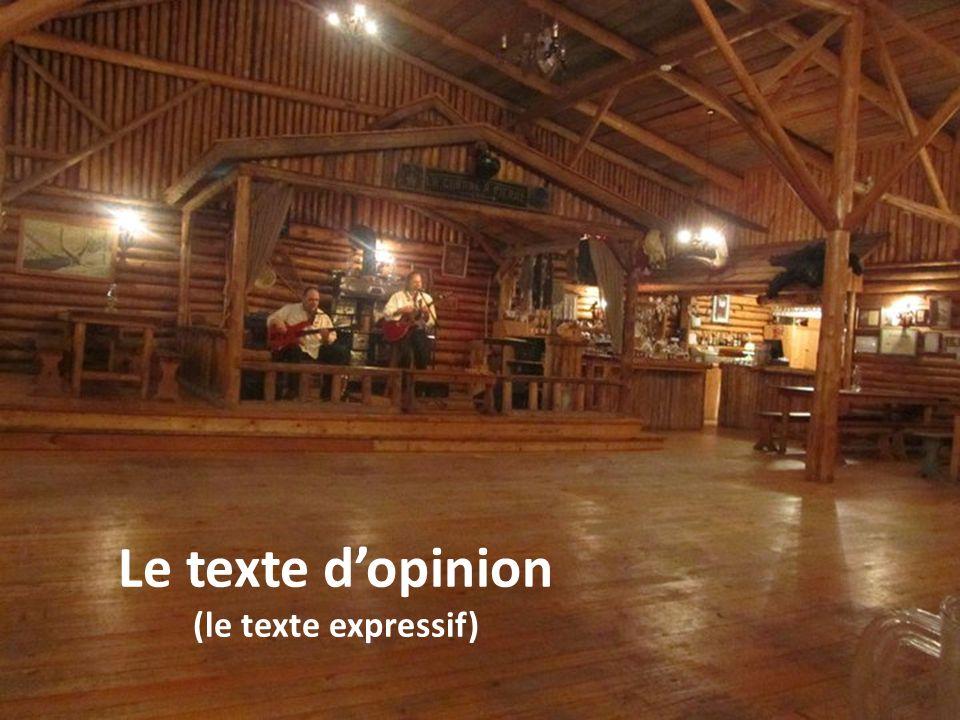 Le texte dopinion (le texte expressif)