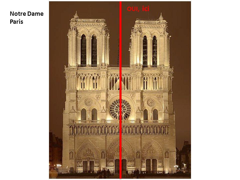 Notre Dame Paris OUI, ici