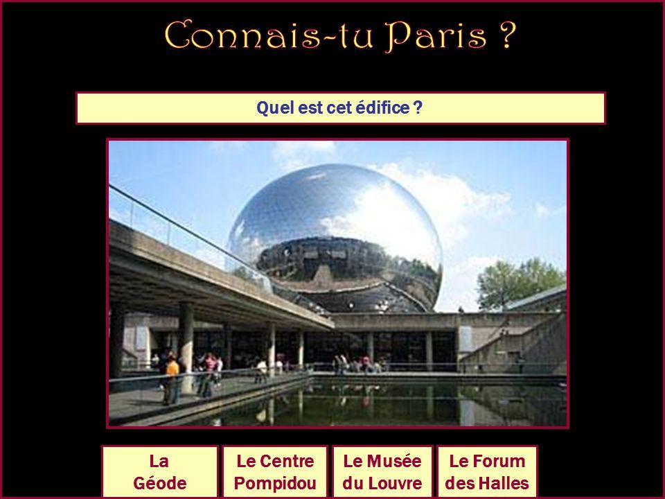 Quel est cet édifice Le Sacré- Coeur Le PanthéonLa Madeleine La Sorbonne