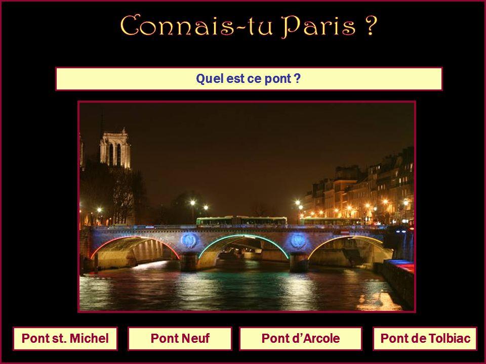 Quel est ce pont Pont dIénaPont NeufPont st. MichelPont de Tolbiac