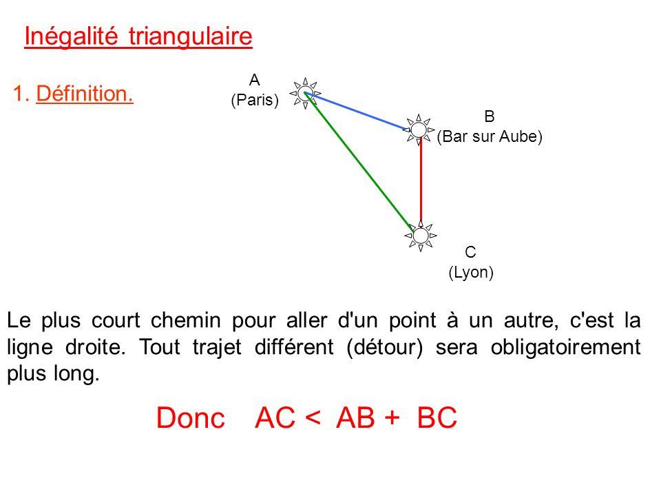 1.Définition 2.Cas du triangle. 3.Cas des points alignés. Plan du chapitre