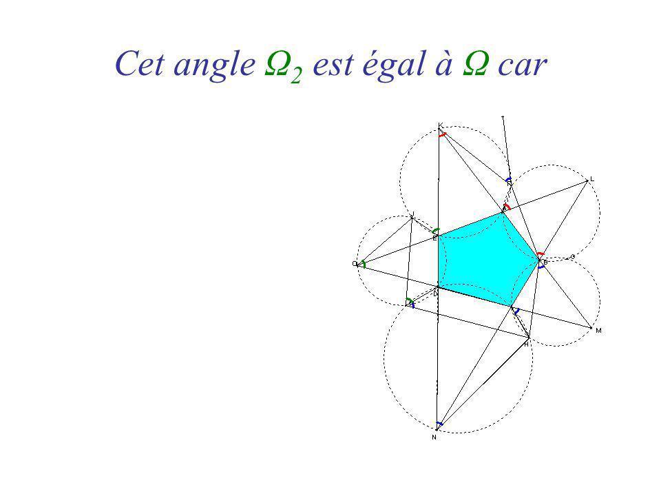 Cet angle Ω 2 est égal à Ω car