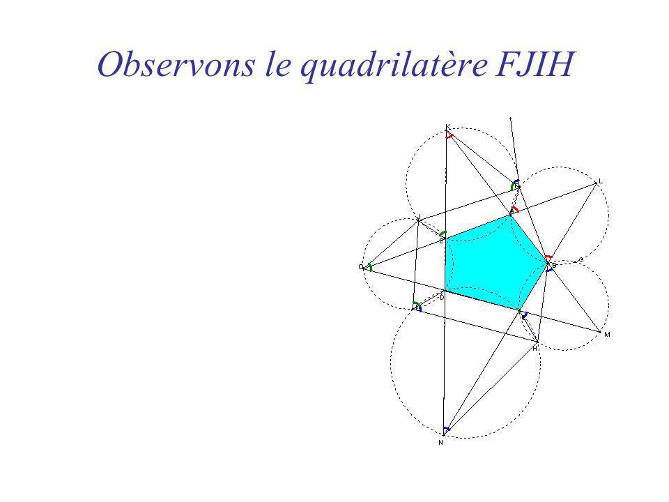 Observons le quadrilatère FJIH