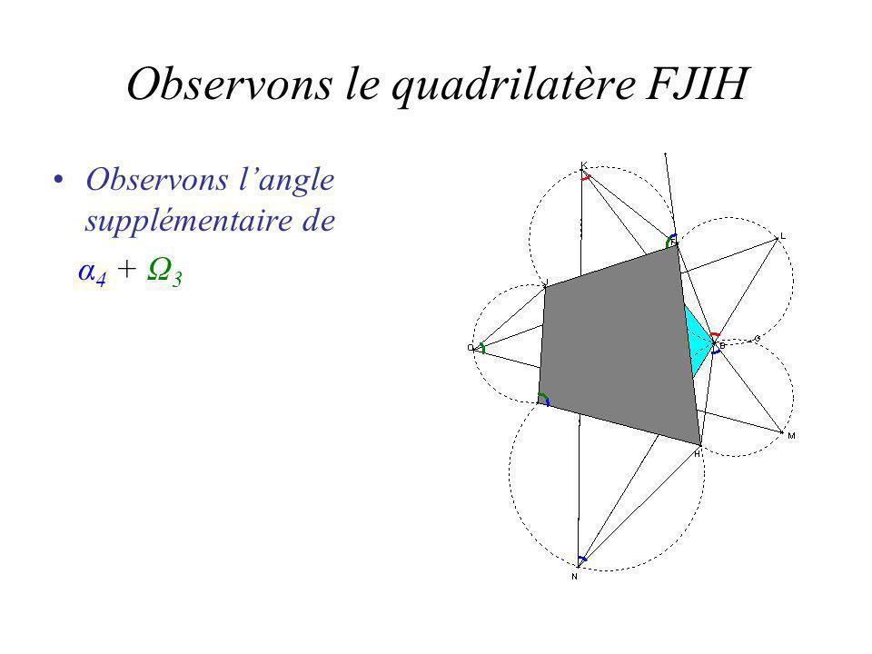 Observons langle supplémentaire de α 4 + Ω 3
