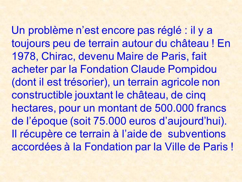Notre acheteur avait alors un incroyable coup de chance : un mois après lachat, Chirac sarrange avec son ami ministre des affaires culturelles, pour q