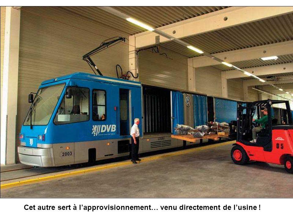 Et pour la visite il y a un train spécial… qui arrive jusquà lentrée !