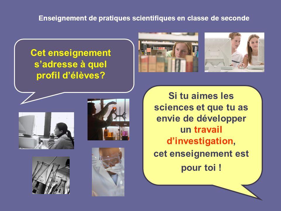 Enseignement de pratiques scientifiques en classe de seconde Si tu as des questions, nhésite pas à les poser aux professeurs ici présents, Mme BAROU (SVT) et Mme LYDOIRE (Sciences Physiques)