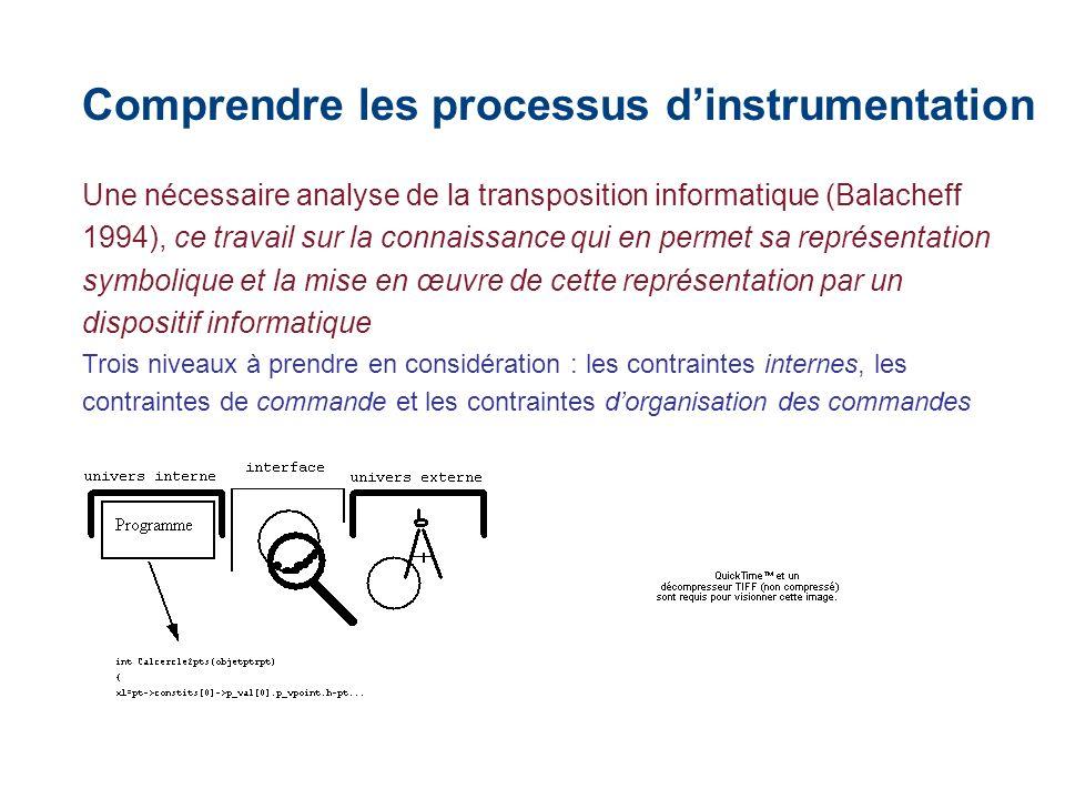 Une nécessaire analyse de la transposition informatique (Balacheff 1994), ce travail sur la connaissance qui en permet sa représentation symbolique et