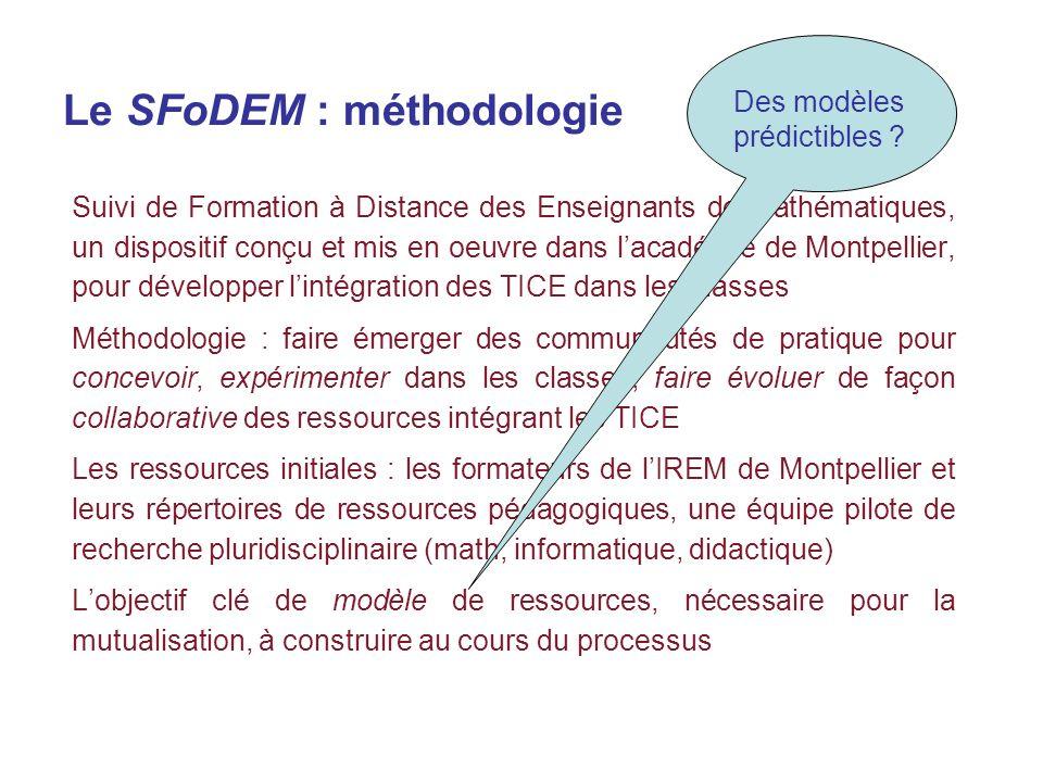 Le SFoDEM : méthodologie Suivi de Formation à Distance des Enseignants de Mathématiques, un dispositif conçu et mis en oeuvre dans lacadémie de Montpe
