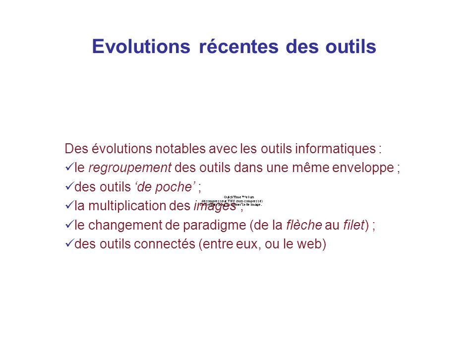 Evolutions récentes des outils L aspect structuré des outils et la combinaison de plusieurs outils, deux caractéristiques anciennes du calcul Des évol