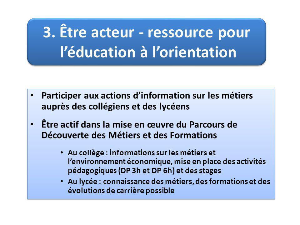 3. Être acteur - ressource pour léducation à lorientation 3.