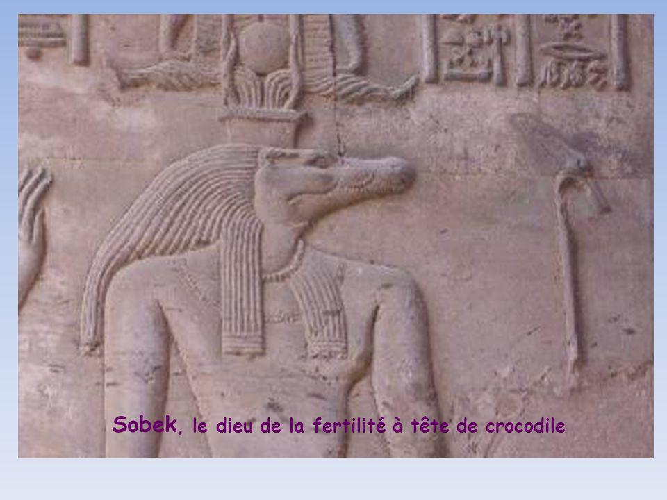 Le Temple de Kôm – Ombo bâti vers -180 sous la dynastie des Ptolémées, dédié à Haroéris, le dieu bienfaisant à tête dépervier et à Sobek