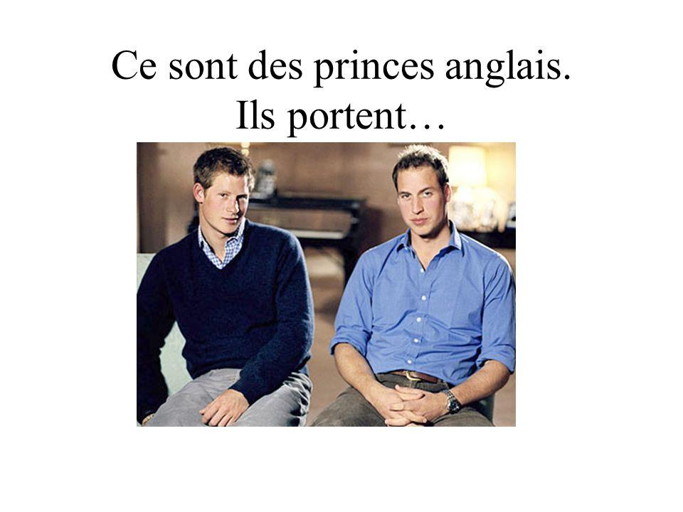 Ce sont des princes anglais. Ils portent…