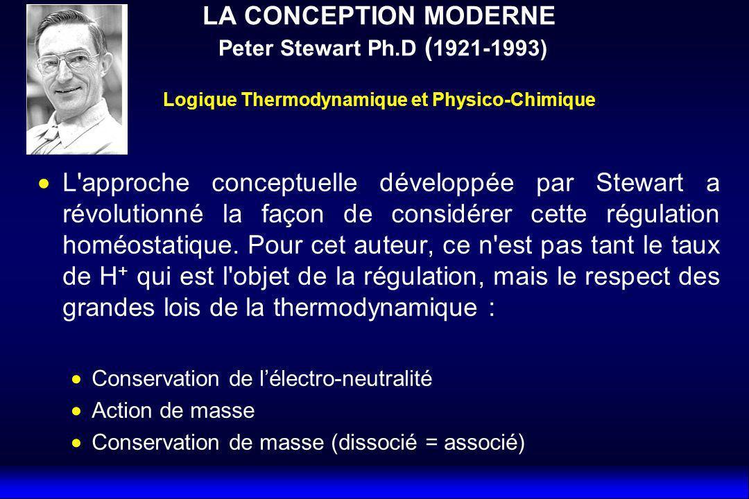 L approche conceptuelle développée par Stewart a révolutionné la façon de considérer cette régulation homéostatique.