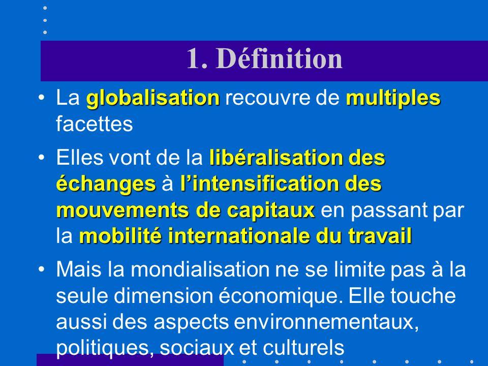 1. Définition D'un point de vue étymologique, monde (univers) et globe sont suffisamment proches pour que mondialisation et globalisation soient synon