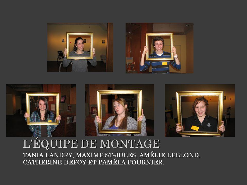 TANIA LANDRY, MAXIME ST-JULES, AMÉLIE LEBLOND, CATHERINE DEFOY ET PAMÉLA FOURNIER.