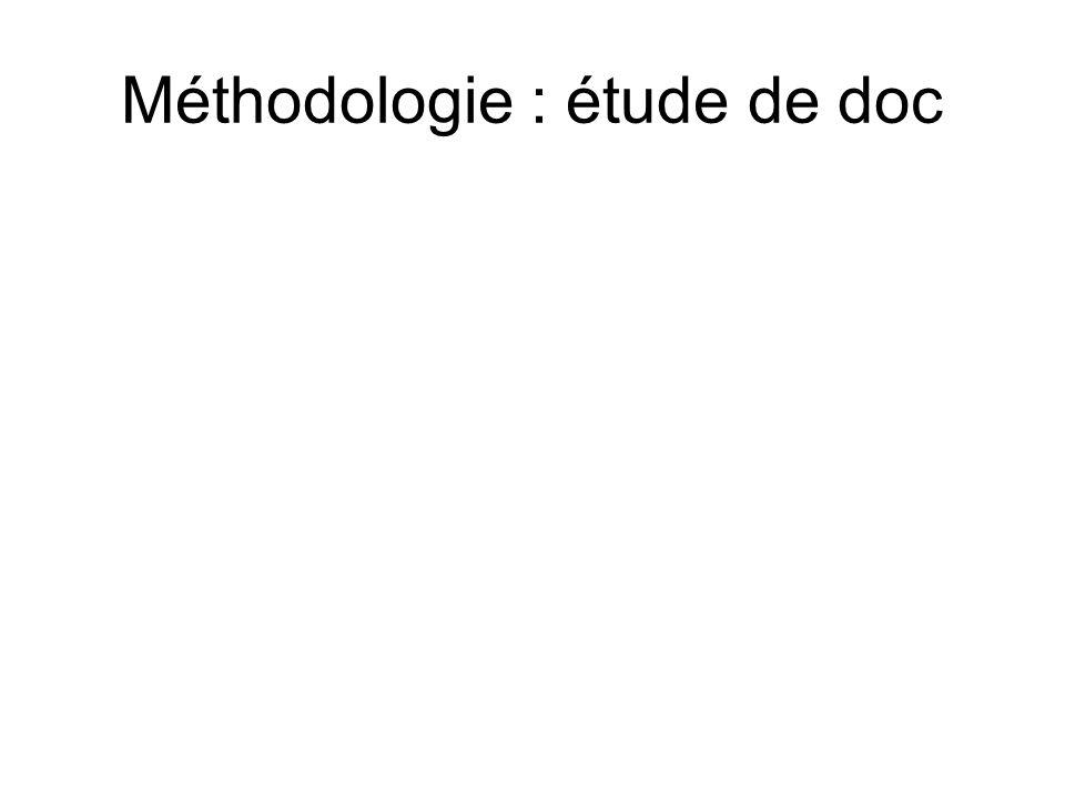 Méthodologie : étude de doc