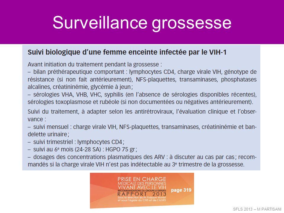 Surveillance grossesse SFLS 2013 – M PARTISANI page 319