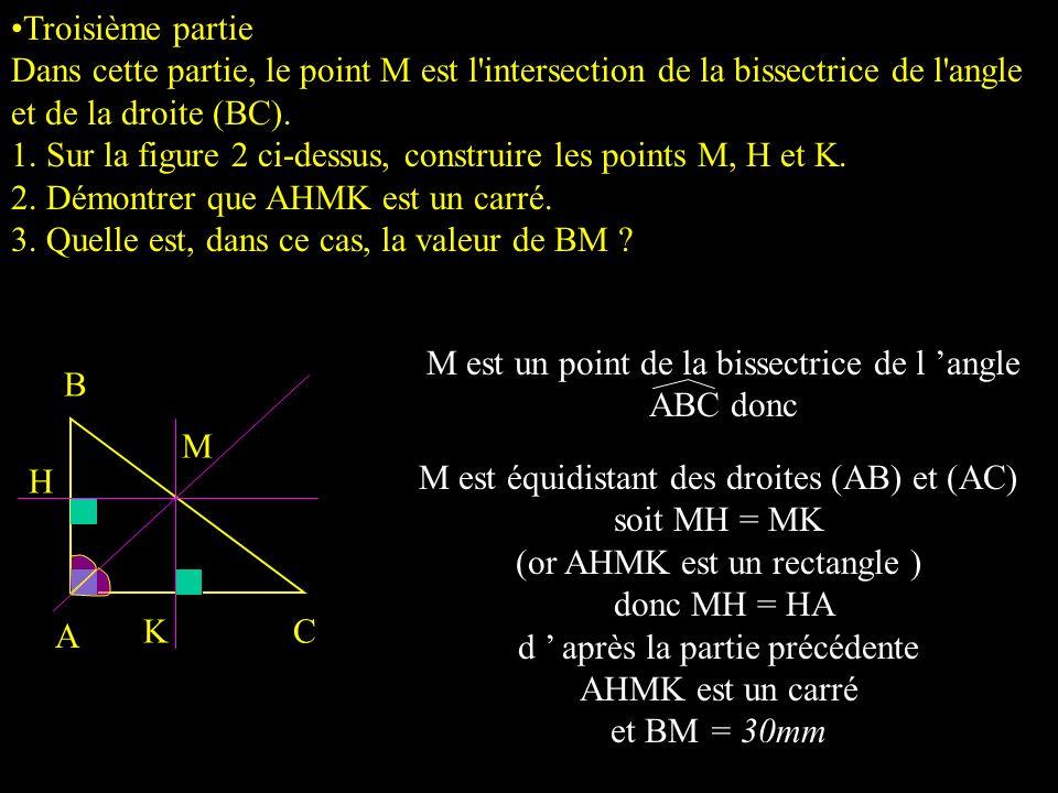 2) a) Le périmètre du rectangle est donc égal à P = 2AH + 2HM P = 2 x ( 42 - 0,6x) + 2 x 0,8x P= 84 - 1,2x +1,6x P= 84 + 0,4x 2. a) Exprimer le périmè