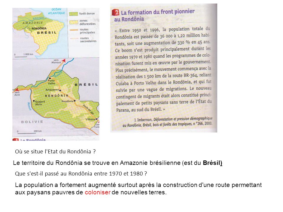 Où se situe l Etat du Rondônia .