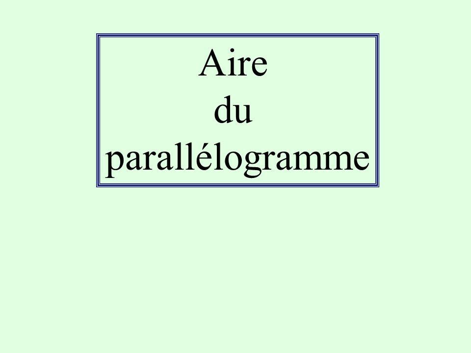 Effectue les calculs puis essaye de tracer les parallélogrammes en vraie grandeur .