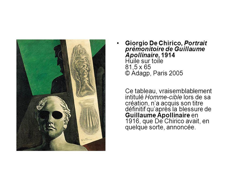 René Magritte,Querelle des universaux, début 1928 Huile sur toile Achat 1993 53,5 x 72,5 AM 1993-116 © ADAGP Les mots feuillage , cheval , miroir , canon , écrits sur la toile, remplacent limage quils désignent.
