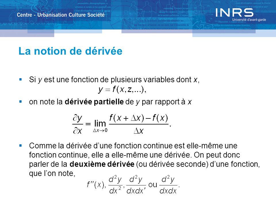 Loptimisation Loptimisation est la recherche du minimum ou du maximum dune fonction.