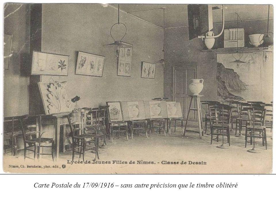 Carte Postale du 17/09/1916 – sans autre précision que le timbre oblitéré