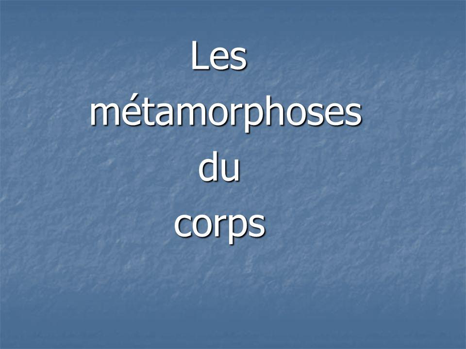 Les Les métamorphoses métamorphoses du du corps corps