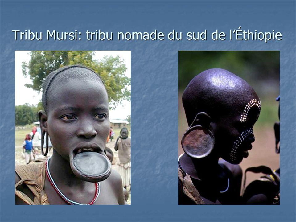 Tribu Mursi: tribu nomade du sud de lÉthiopie