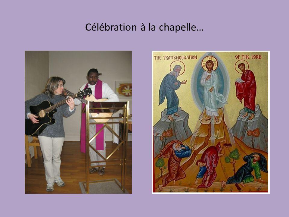 Célébration à la chapelle…