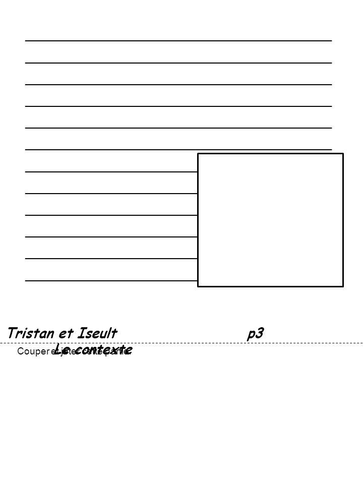 Tristan et Iseultp3 Le contexte Couper et jeter cette partie.