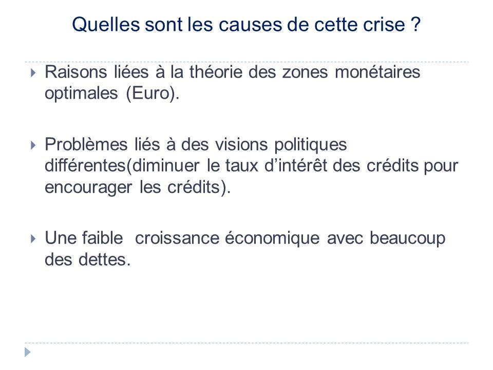 Quelles sont les causes de cette crise .