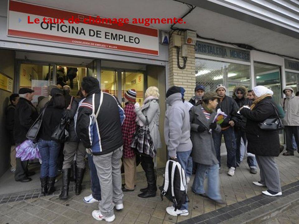 Le taux de chômage augmente.