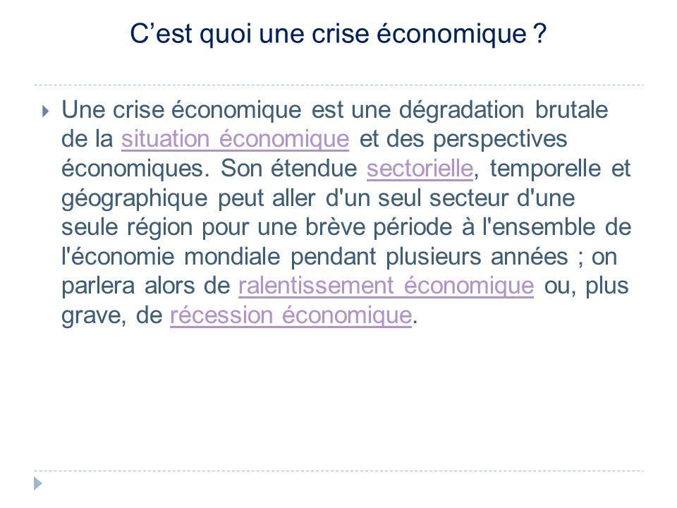 Cest quoi une crise économique .