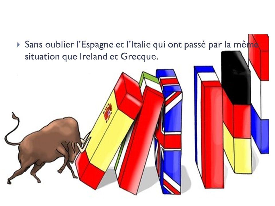 Sans oublier lEspagne et lItalie qui ont passé par la même situation que Ireland et Grecque.