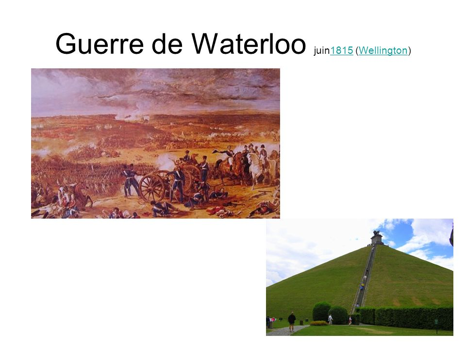 Guerre de Waterloo juin1815 (Wellington)1815Wellington