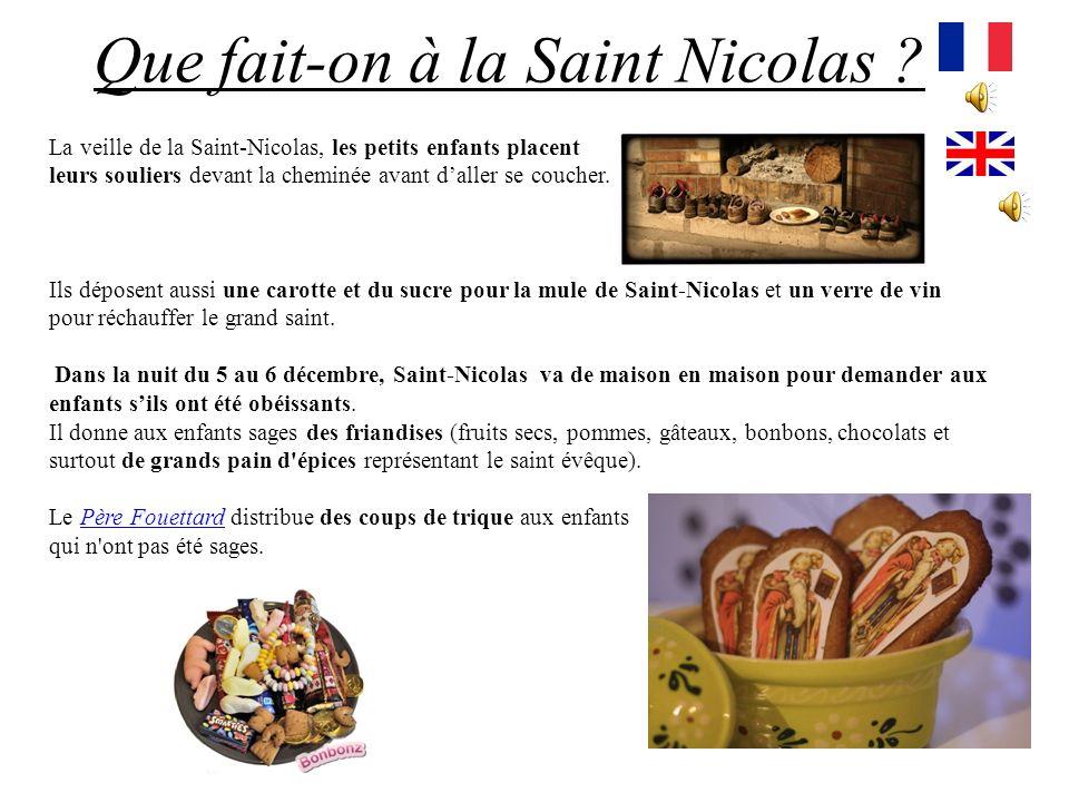 Saint-Nicolas, dans son costume dévêque, fait équipe avec un personnage sinistre : le Père Fouettard. Pourquoi est-il célèbre ? Daprès la légende, Sai