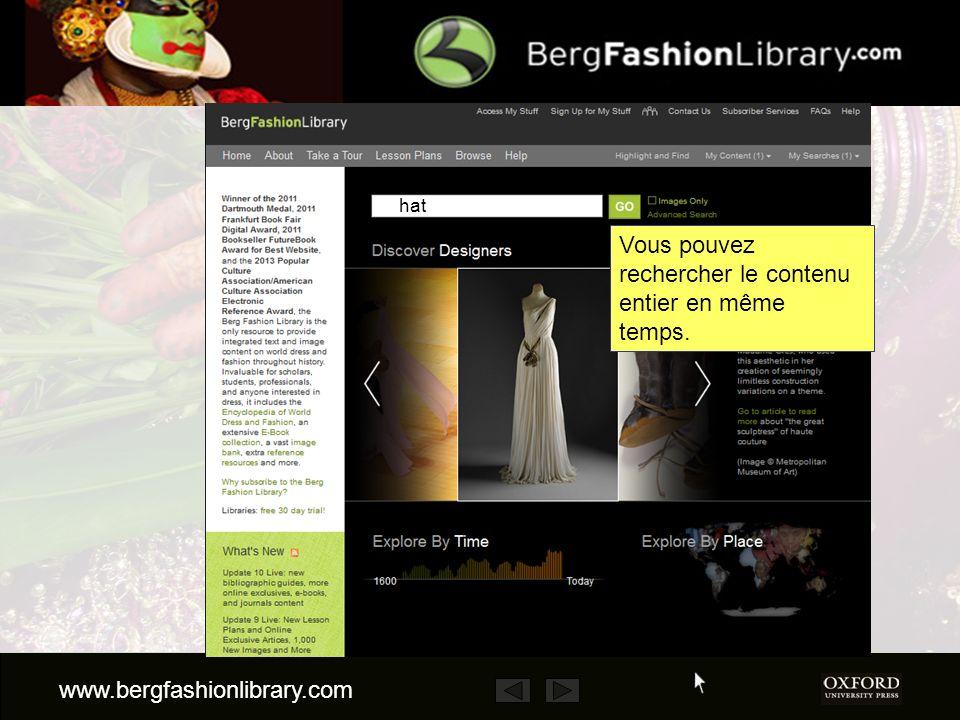 www.bergfashionlibrary.com Vous pouvez rechercher le contenu entier en même temps. hat