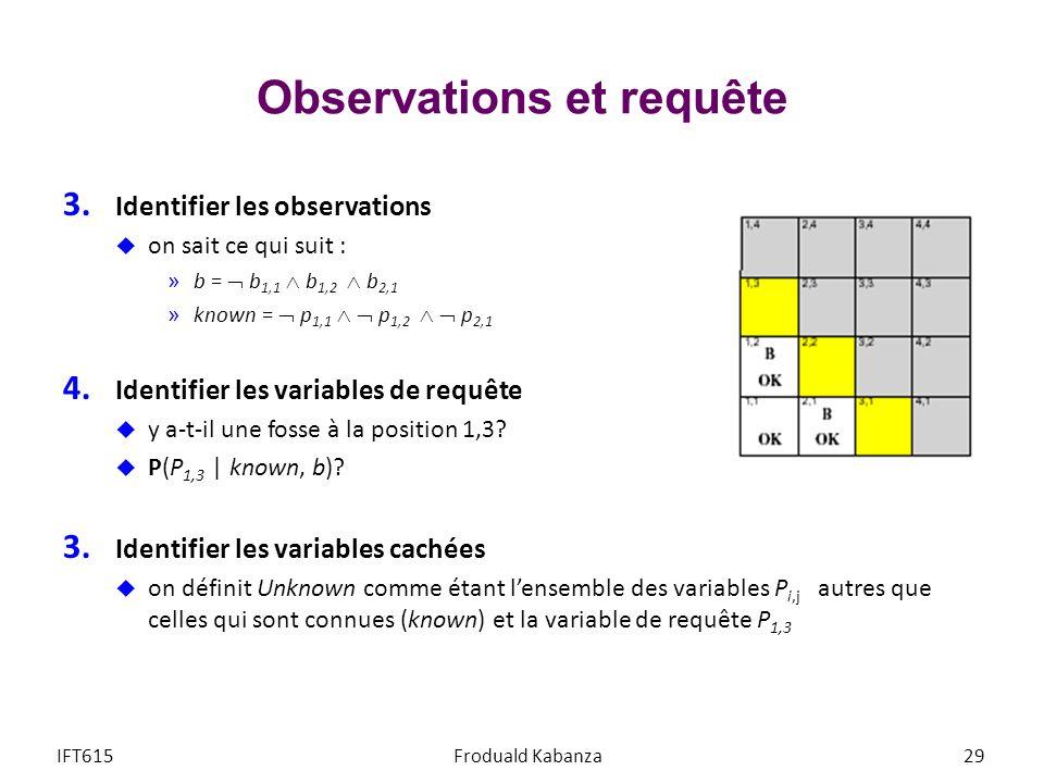 Observations et requête 3.