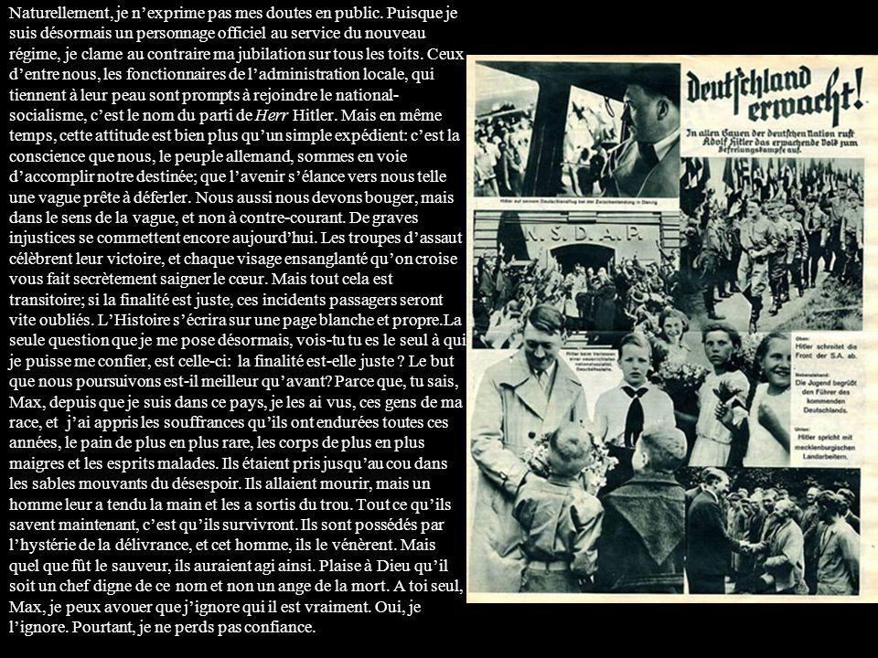 SCHLOSS RANTZENBURG, MUNICH, Allemagne 25 mars 1933 Mr Max Eisenstein Galerie Schulse-Eisenstein San Francisco, Californie, USA Cher vieux Max, Tu as certainement entendu parler de ce qui se passe ici, et je suppose que cela tintéresse de savoir comment nous vivons les événements de lintérieur.