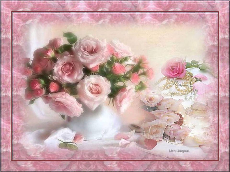 Je vois sur la branche de mai, une rose Dans sa robe de jeunesse à peine éclose Et le ciel jaloux de cette unique fleur Au début du jour larrose de se