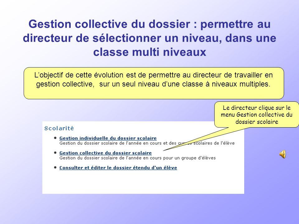 Les principaux objectifs de cette version Directeur Admission collective : Recherche des élèves radiés dune même école.