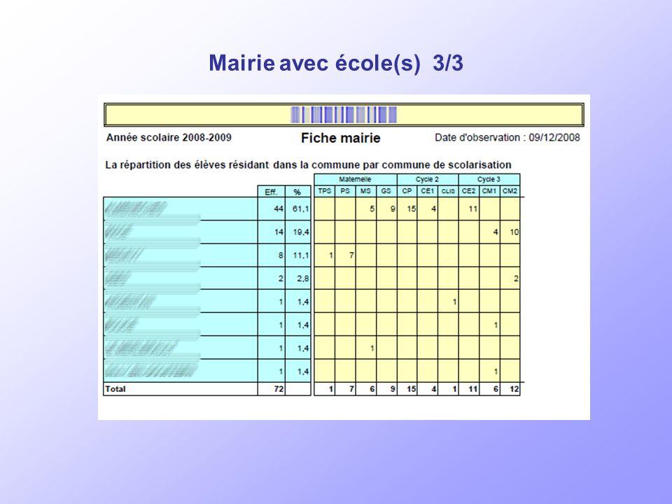 >>> Mairie avec école(s) 2/3