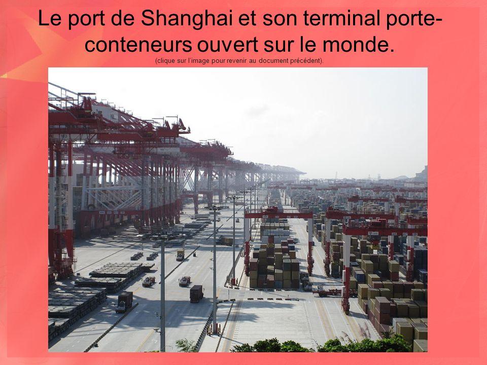 Le port de Shanghai et son terminal porte- conteneurs ouvert sur le monde.