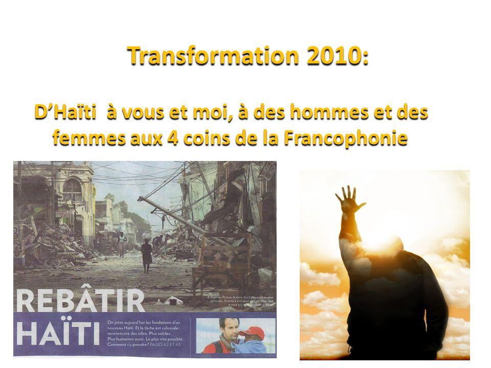 Vision Transformation 2010 Éphésiens 6.10-13 & 18 (10) Au reste, fortifiez-vous dans le Seigneur, et par sa force toute-puissante.