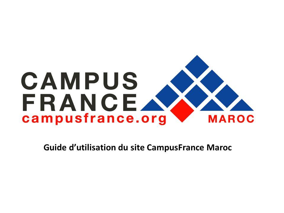 Guide dutilisation du site CampusFrance Maroc