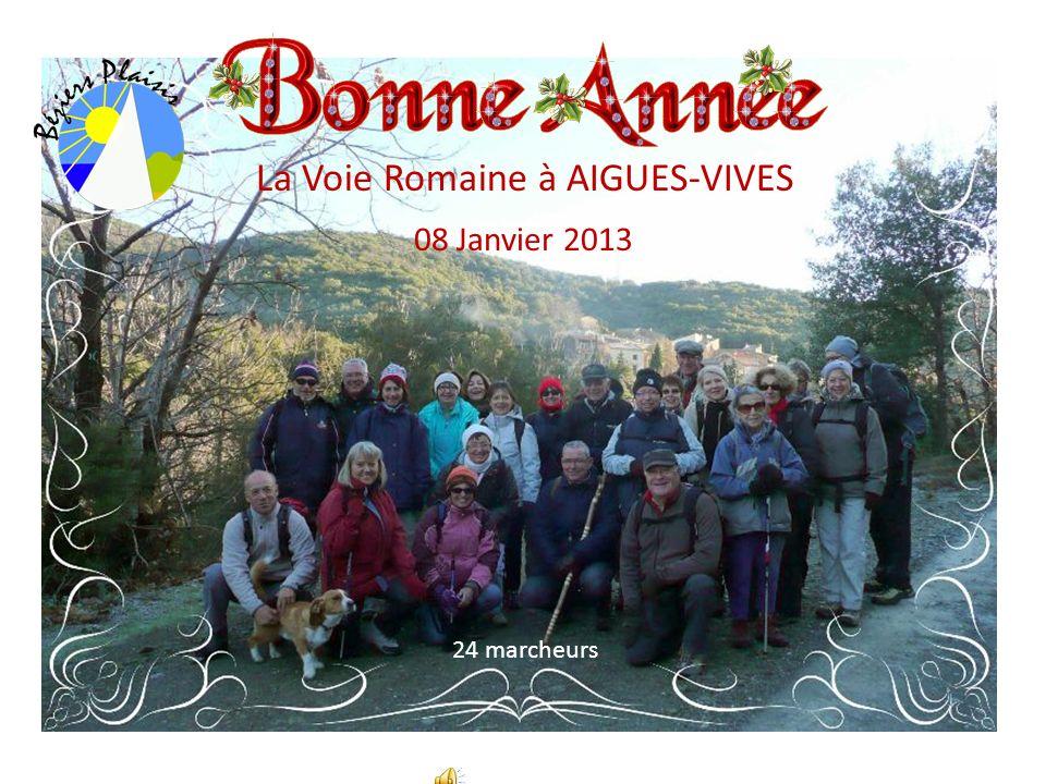 La Voie Romaine à AIGUES-VIVES 08 Janvier 2013 24 marcheurs